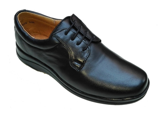 Zapato Piel De Borrego Para Pie Delicado Diabetico Negro 800