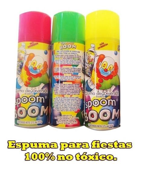 10 Espumas Fiesta Boom El Payaso En Spray Para Niños