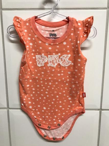 Body Puc Bebê Menina Infantil Com Renda - M