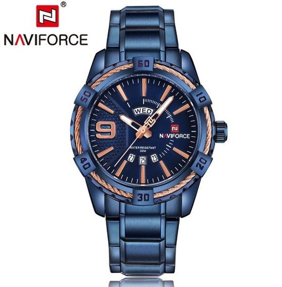 Relógio Original Masculino Naviforce Social Edição Dark Blue