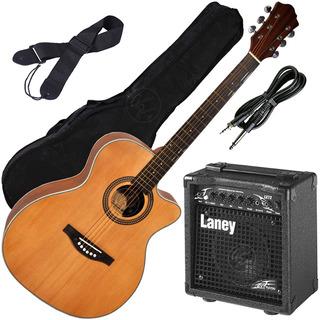 Guitarra Electroacustica + Ampli Laney + Funda + Accesorios