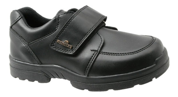 Zapato Abrojo Vinilo Negro Plumitas Colegial Vuelta Al Cole