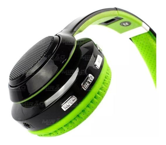 Fone Ouvido Bluetooth 4.2 Exbom Hf-420bt Verde