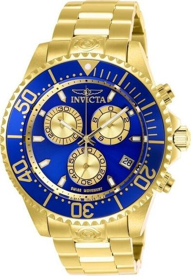 Relógio Invicta Pro Diver Man 26849 Chronograph Gold-tone