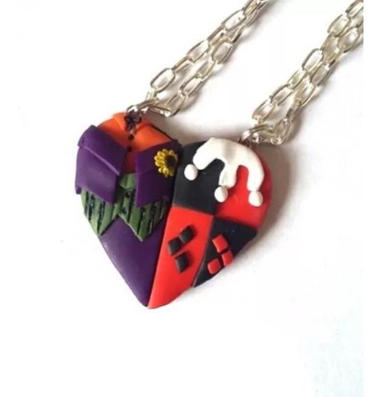 Collares Dobles Amor Dc Pareja Joker Y Harley Quinn Guasón