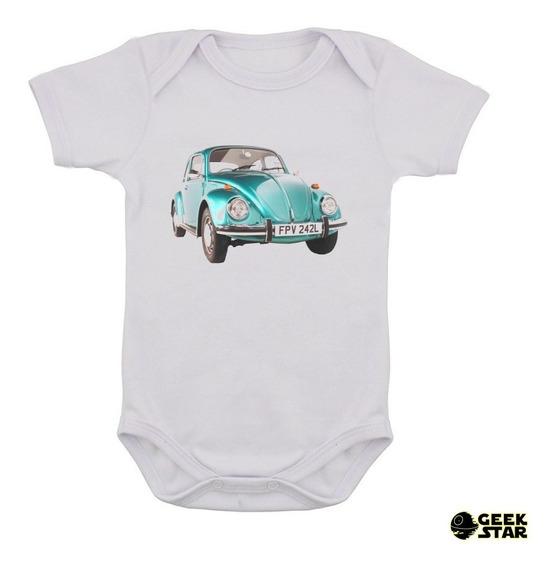 Body Infantil Fusca Carro Antigo Vintage Bebê