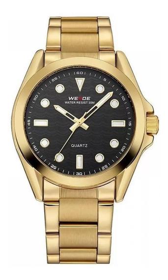 Relógio Dourado Weiden