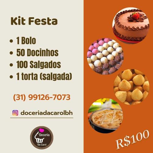Kit Festa Salgados E Bolo