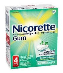 Nicorette Gum 100 Chicle Nicotina 4mg Sabor Spearmint