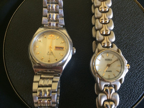 Lote 2 Relógios Feminino Seiko E Orient