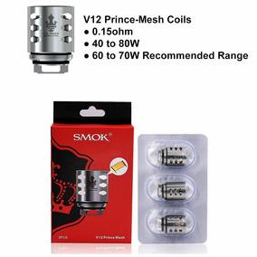 Smok Tfv12 V12 Prince Mesh Coil Head Resistência Bobina 3 Un