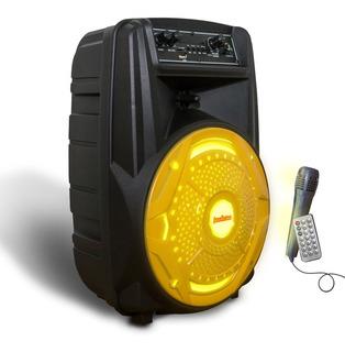 Parlante Portatil Bluetooth 1500w Microfono Luz Led Cuotas