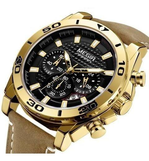 Relógio Megir 2094 Original Lançamento Estojo E Nota Fiscal