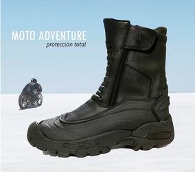 Botas Moto Adventure. Cuero Con Protecciones. Waterproof.