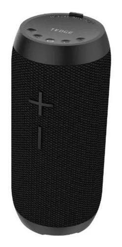 Imagen 1 de 2 de Bocina Tedge Bluetooth 10W portátil negra 110V/200V