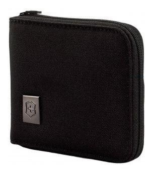 Carteira Nylon Preta Com Zíper 4.0 Bi-fold Wallet Victorinox