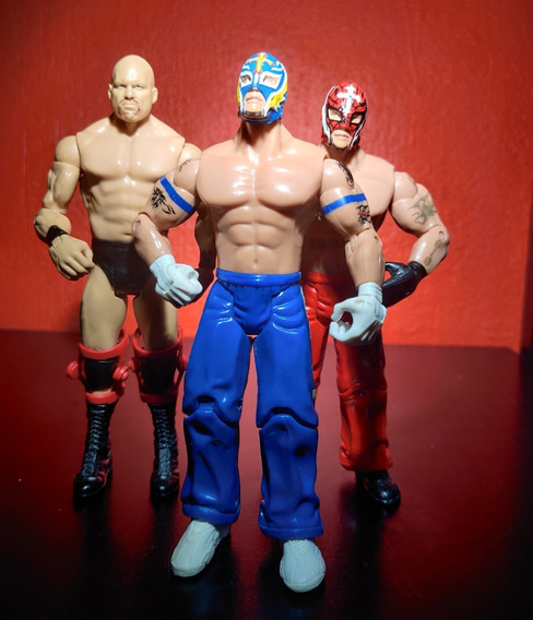 Wwe 3-pack Rey Mysterio Spiderman, Stone Cold Steve Austin