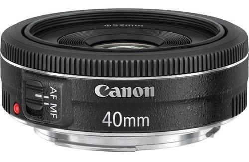 Lente Canon Ef 40mm F/2.8 Stm, Nfe + Garantia Oficial