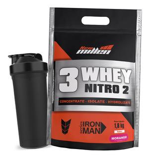 3 Whey Nitro 2 Conc Isolado Hirolisado - 1800g - New Millen