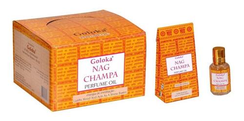 Imagem 1 de 1 de Óleo Perfumado Indiano Goloka Nag Champa 6un.10ml- Meditação