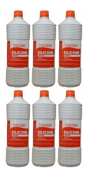 Silicone Liquido 1 Litro Vonixx Kit C/6 Unidades