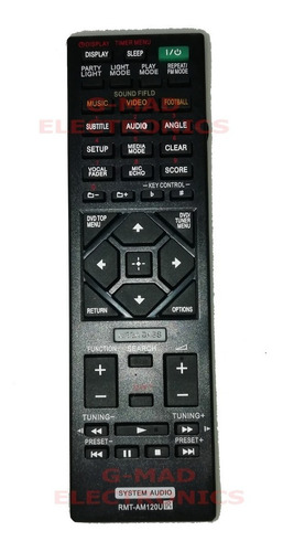 Control Remoto Audio Equipo De Sonido Marca Sony