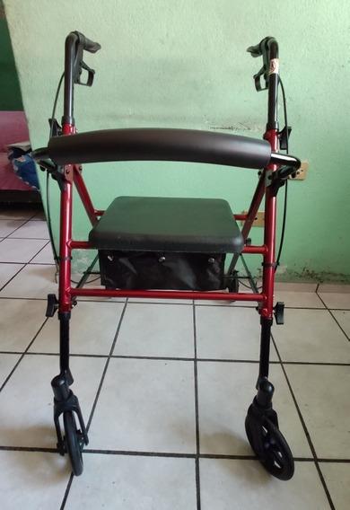 Andadera Rollator Ajustable Ortopédica Y Con Asiento