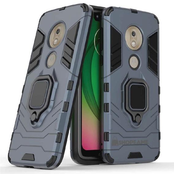 Funda Moto G7 Power Play Plus Anillo Case Uso Rudo Magnetico