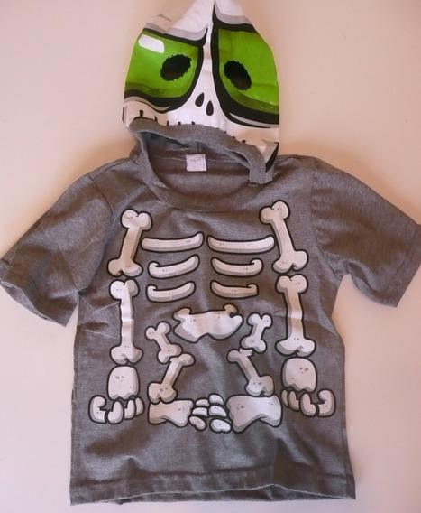 Disfraz Niñ Zombie Halloween Remera C Mascara Y Tb Ropa Gap