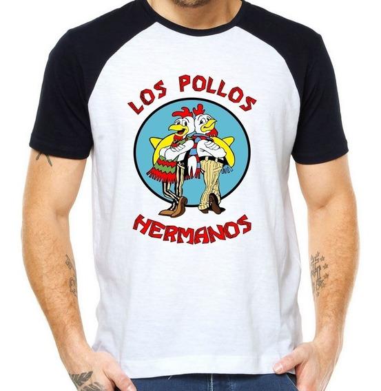 Camiseta Camisa Raglan Los Pollos Hermanos - Breaking Bad