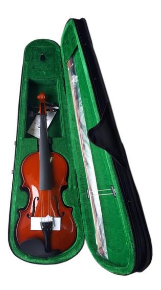 Kit Violino 4/4 Sv Start Giannini Arco Genuíno Sup Partitura