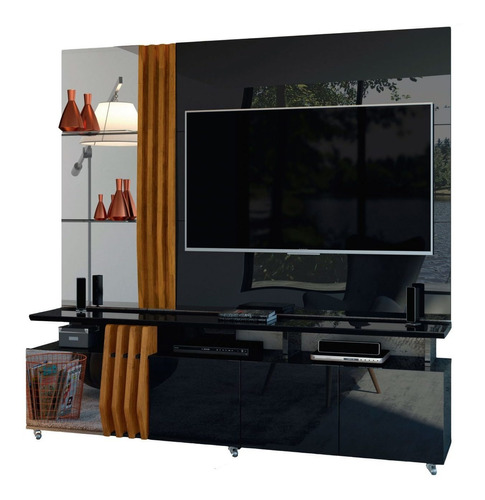Imagen 1 de 2 de Rack Tv Modular Con Espejo Living Hasta Led 55 Donna