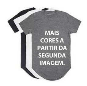 Kit 08 Un Camisas Blusas Masculinas Long Line Oversize Swag