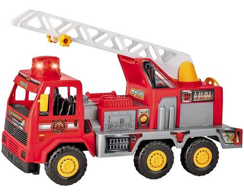 Imagem 1 de 2 de Caminhão Bombeiro Infantil Fire Com Som E Luz - Magic Toys