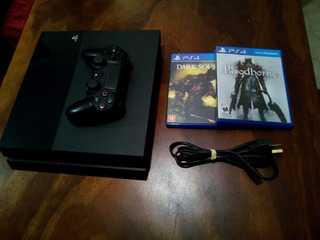 Ps4 Fat 500 Gb + Bloodborne & Dark Souls Iii