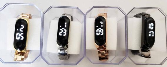 Relógios Digital-led Quadrado C/5 Unissex Atacado Revenda