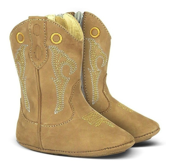 Bota Country Texana Silverado Baby Couro Do 14 Ao 22
