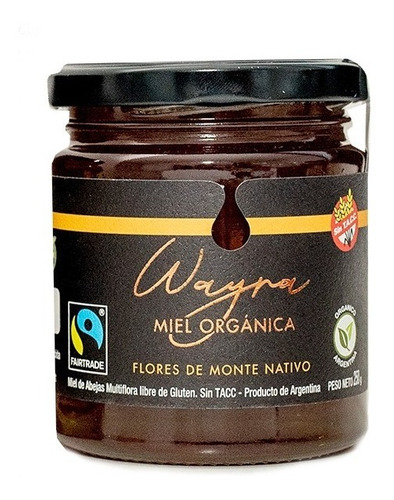 Imagen 1 de 10 de Miel Orgánica Del Monte 250 Grs Miel Líquida Certificada