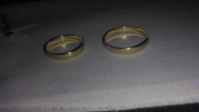 Par De Aliança De Casamento Em Ouro 18k