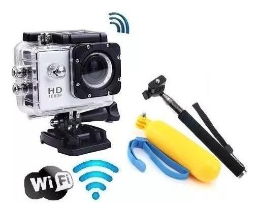 Camera Filmadora Prova Dagua Sportcam Wi Fi C Boia E Monopod