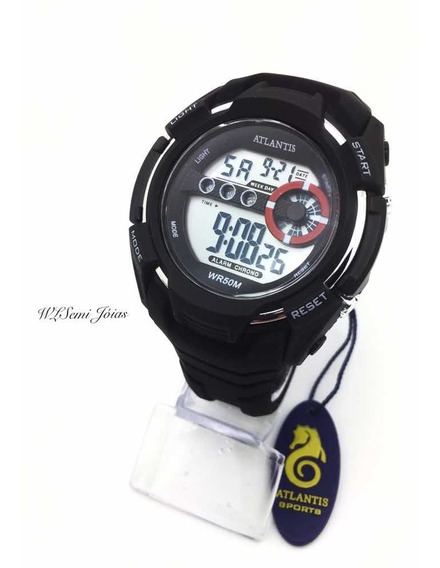 Relógio Atlantis Digital Sport Prova D´água G5515