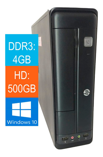Desktop Hp 402 G1 Corei5 4ª Geração 4gb 500gb Win10 -oferta
