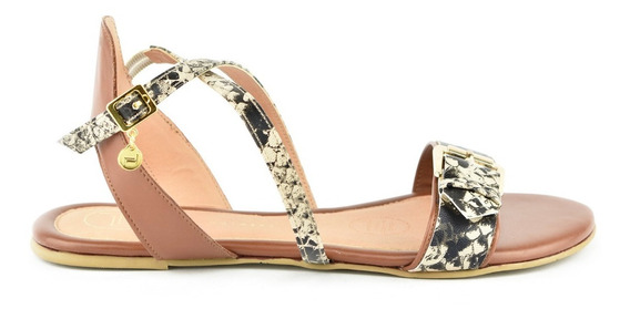 Sandalia De Piso Para Mujer Lob Footwear 151-9588 Marrón Nuevo Oi19