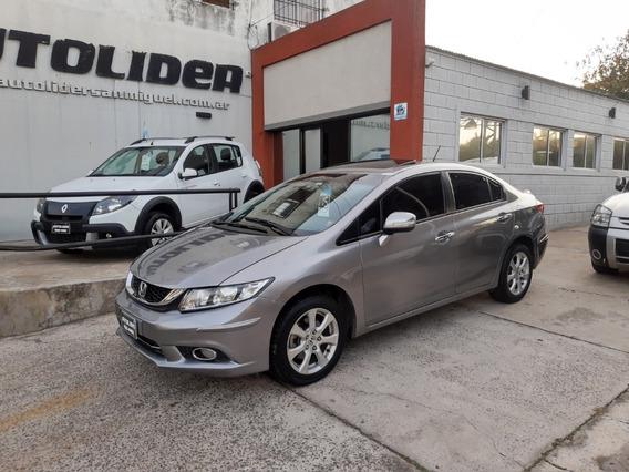 Honda Civic 1.8 Exs Aut 2015 Impecable 42.000 Kms Autolider