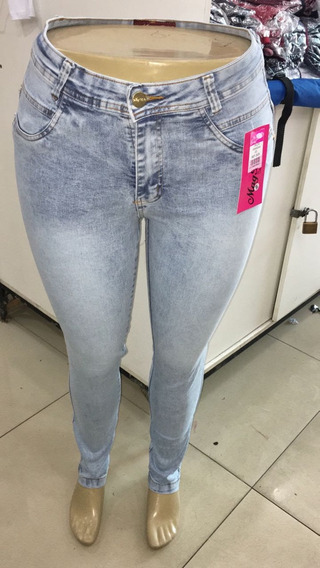 Calca Jeans Feminina Skinny Hot Pants Plus Size Com Lycra