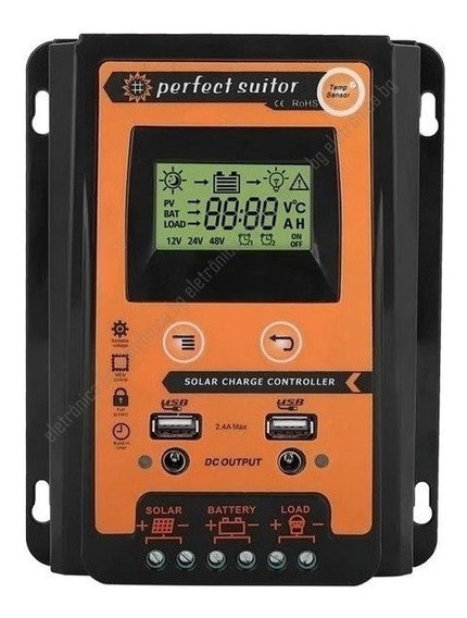 Controlador Carga Solar 30a 12v 24v Perfect Suitor