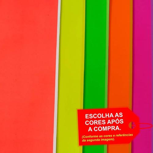 Imagem 1 de 4 de Folha De Eva Estampado Neon 40x60cm - 5 Unidades