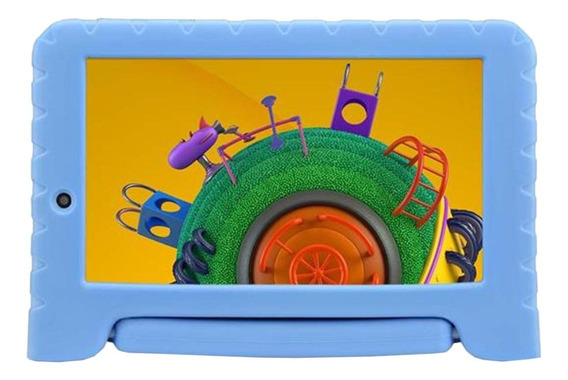 "Tablet Multilaser Discovery Kids NB290 7"" 8GB azul com memória RAM 1GB"