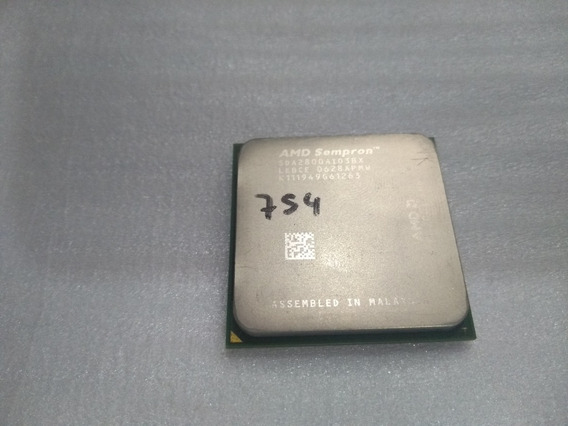 Processador Amd Sempron 2800+ Sda2800aio3bx 2001 Socket 754