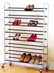 Sapateira Cromada Até 40 Pares De Calçados Quarto Closet